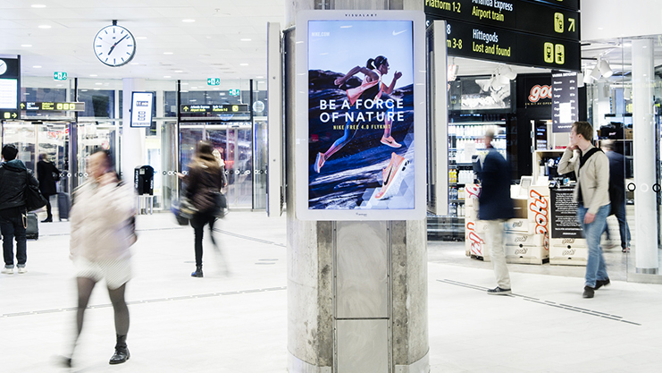 DOOH Nike Visual Art Centralstationen Jernhusen